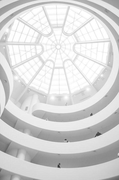 구겐하임 미술관, 천장, 돔, 큐폴라, 뉴욕, 건축물, 건물, 유명한, 박물관, 현대, 구조