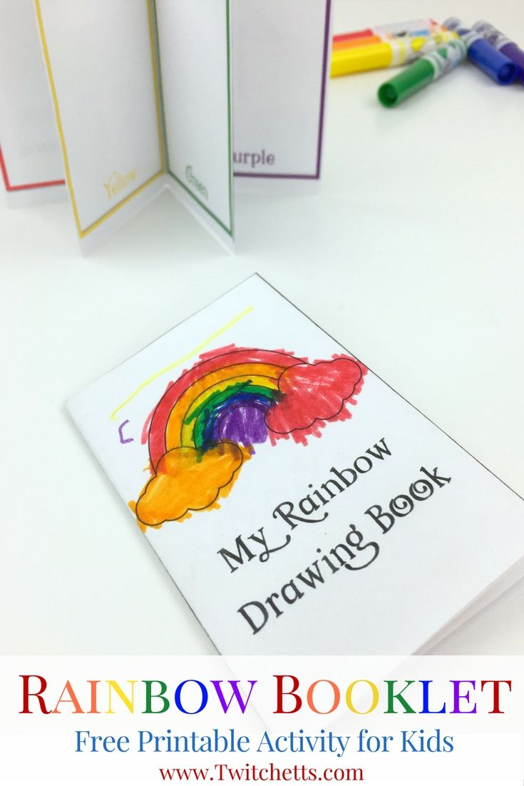 Activities for colors for toddlers - Printable Rainbow Booklet Teaching Rainbow Colors