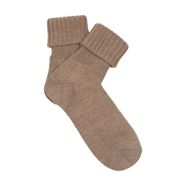Falke Striggings wool-blend socks (€14) ❤ liked on Polyvore featuring intimates, hosiery, socks, brown, brown socks, falke hosiery, wool blend socks, falke and falke socks