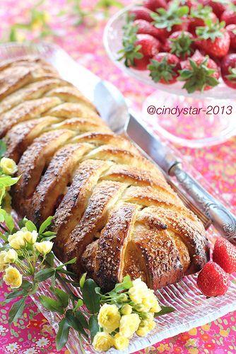 Treccia danese con marmellata - Sweet Danish Braid