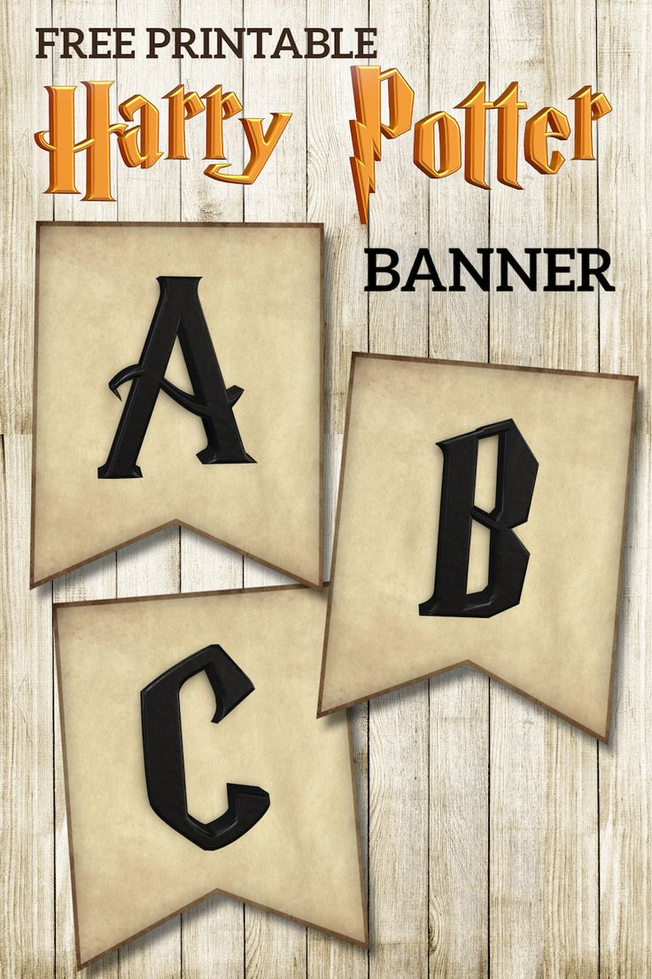 free printable harry potter banner letters