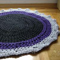 Dywanik czarno-szaro-fioletowy 95cm
