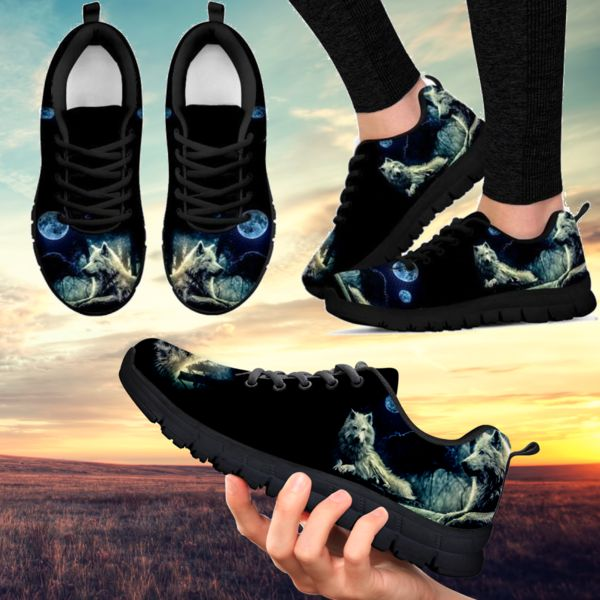 Premium Handcrafted Wolf Moon Sneakers