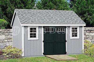 Garden Storage Shed Plans 10' x 14' Gable Roof Design D1014G, Free Material List
