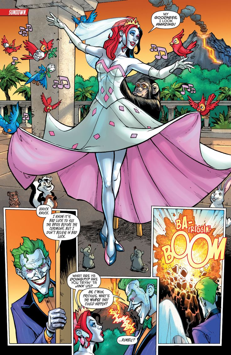 Harley in her wedding dress. I love how she kinda just became a Disney princess with all of the birds and mice and little animals