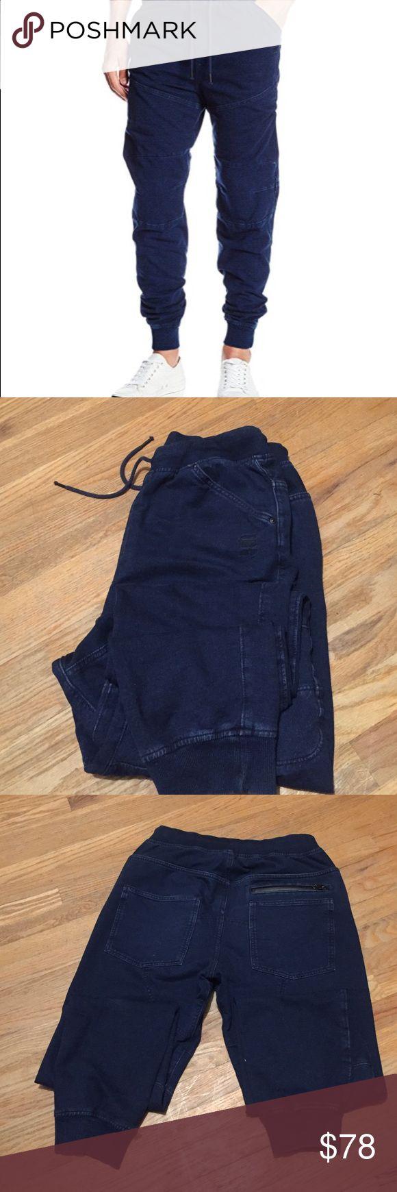 G-Star Raw Men's Kensetsu Sweat Pants. Indigo Hard to find G-Star Raw joggers.  Indigo Dark Aged. Size large. Big comfy pants. Pre-0wned look new. G-Star Raw Pants Track Pants & Joggers