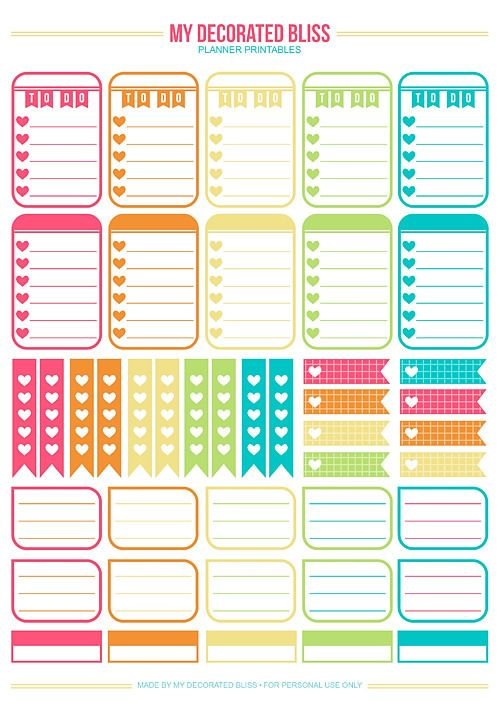 FREE printable planner stickers | MAMBI: Create365 Happy Planner |
