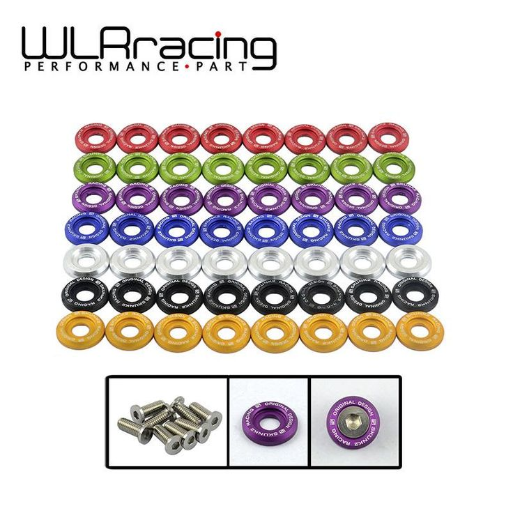 [Visit to Buy] WLRING STORE- (8pc/pack) Clear Anodized Fender Washer Kit For Honda Civic Acura Integra EG DC EK WLR-FW31 #Advertisement
