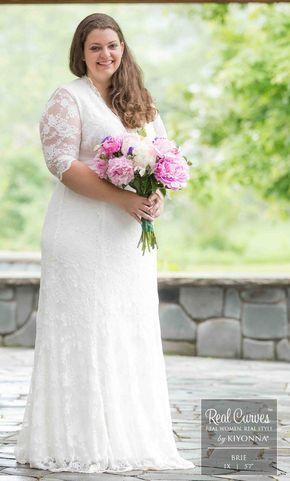 e6a60c07a0b Plus Size Wedding Dresses - Amour Lace Wedding Gown - Kiyonna ...