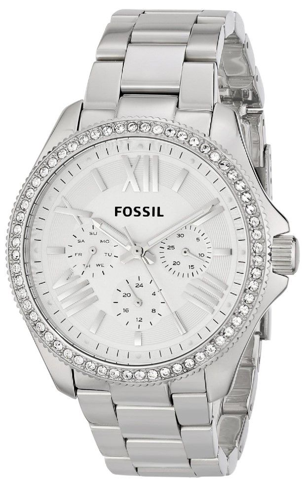 "women watches:  Best white watches for women Fossil Women's AM4481 ""Cecile"" Stainless Steel Watch"