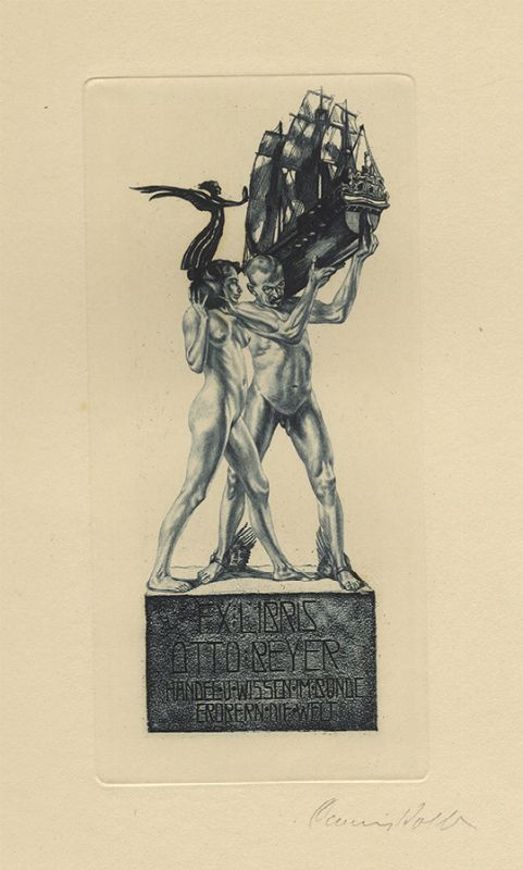 Bookplate by Alois Kolb for Otto Beyer, ????
