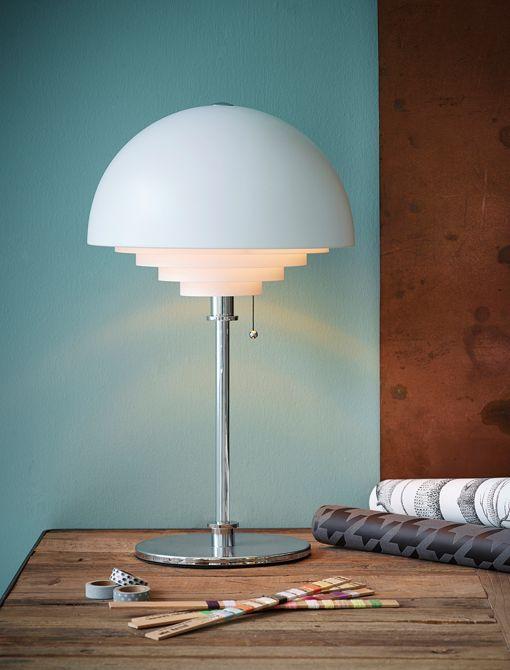 Motown bordlampen fra Herstal (Large) - Med trækafbryder