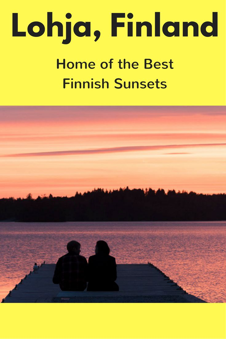 Visit Lohja in 30 Pictures - things to do in Lohja Finland and the best sunset picture ever