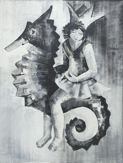 Πριγκήπισσα του βυθού  130X97 Λαδο μπογιά σε καμβά
