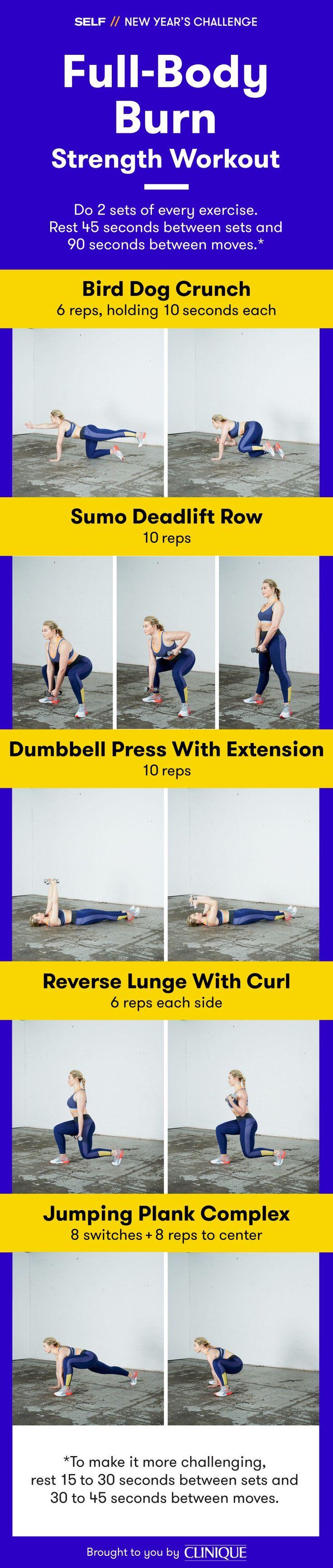 SEL New Year's Challenge - Full-Body Burn Strength Workout #TeamSELF #NewYearsChallenge