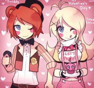 (Open RP I'll be Toy Freddy) *blushes and walks up to toy Chica with a rose in hand* h-hi toy c-Chica...