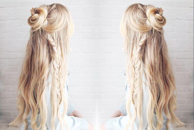 awesome Красивые прически на длинные густые волосы (50 фото) — Простые идеи для пышных кос Читай больше http://avrorra.com/krasivye-pricheski-na-dlinnye-gustye-volosy-foto/