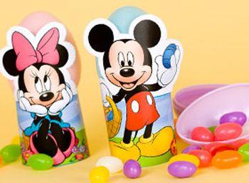 Soporte para huevos de Pascua: Mickey y Minnie