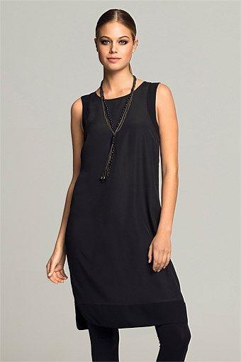 Dresses | Buy Women's Dresses Online - Emerge Chiffon Trim Tunic