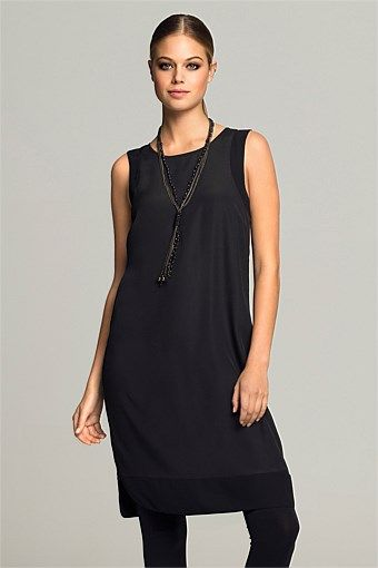 Dresses | Buy Women's Dresses Online - Emerge Chiffon Trim Tunic