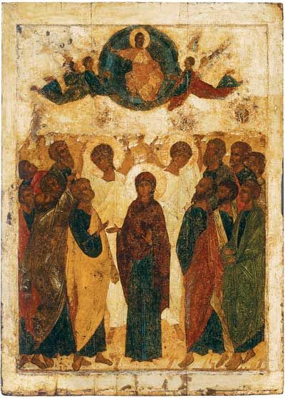 Andrei Rublev  The Ascension  The Tretyakov Gallery  1408