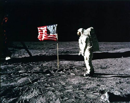 Possibly the most talked-about, debated and controversial picture in history, the picture of the moon landing has been seen as a feat of human engineering at its best, and has been speculated as a hoax by contractors of the event.