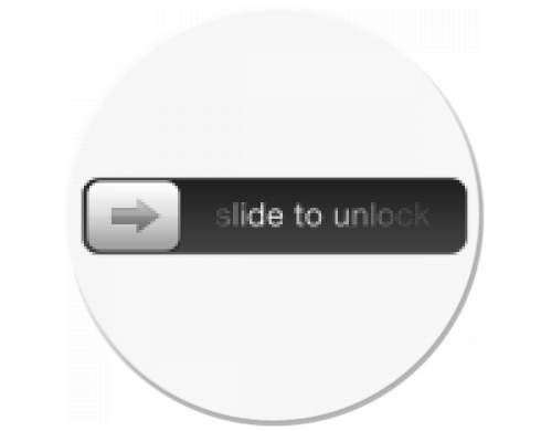 Podložka pod myš kulatá Slide to unlock