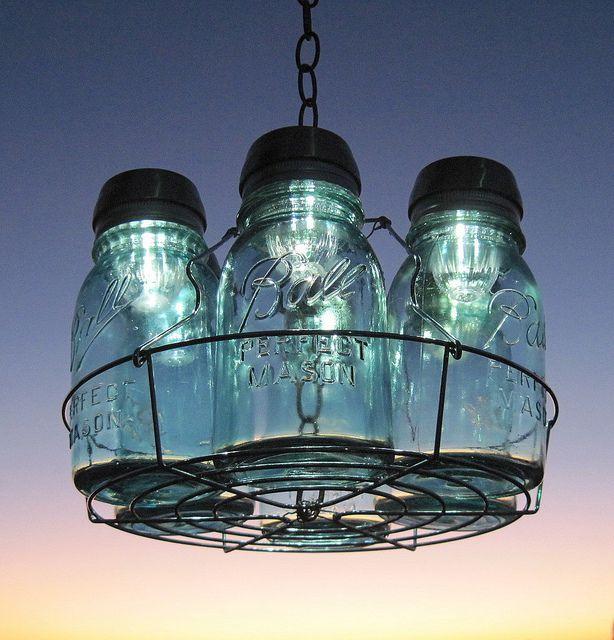 Mason Jar Chandelier: 25+ Best Ideas About Ball Jar Lights On Pinterest