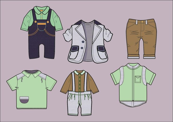 Эскизы детской одежды для мальчиков дизайнер портфолио дизайнера \ Дизайнер одежды
