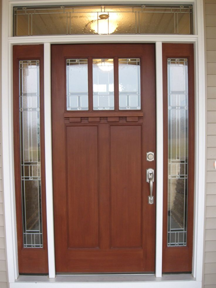 Exterior. Dazzling Modern Entry Doors With Wooden Red Heart Doors Combined  Bottom Panels And Glass
