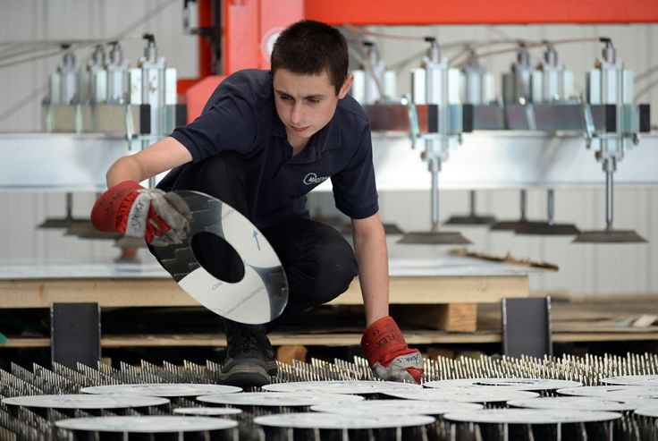 Rhys Owen, apprentice at Midtherm Laser - specialists in laser cutting and forming.