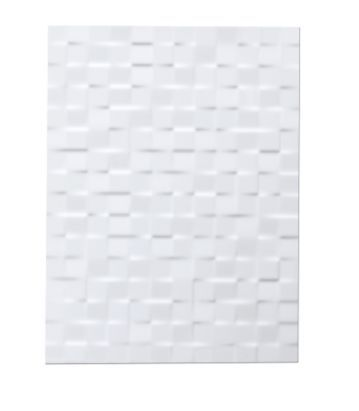 Colours Designer Pack of 8 Abstract White Wall Tiles (L)400 x (W)300mm, 5010921353661