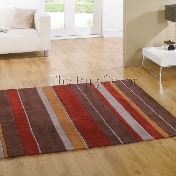 Henden boulevard rugs brown red buy online from the rug seller uk - Modern Rugs - Henden Rugs