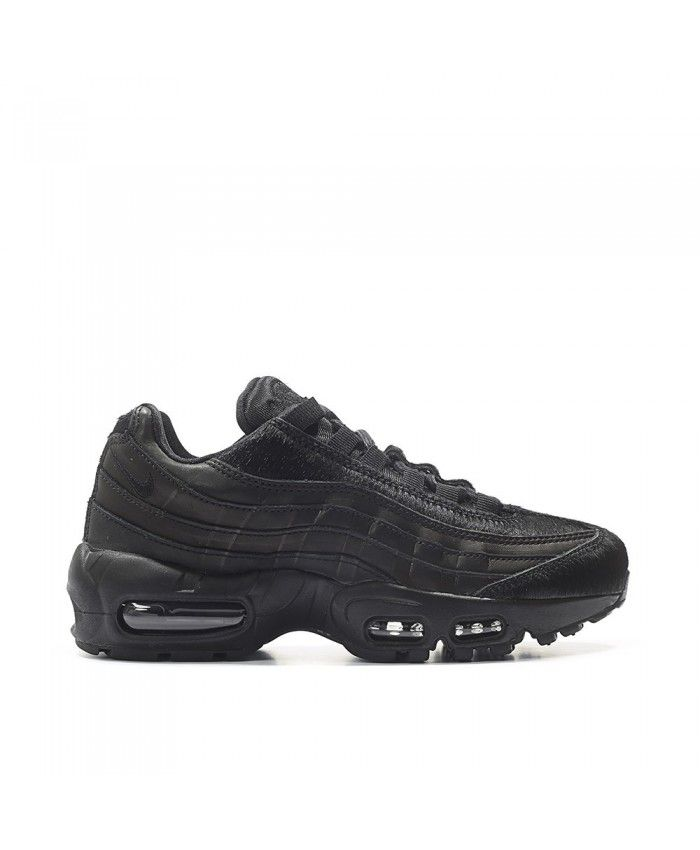 9ed8910377b7 Nike Air Max 95 Premium Black Pony Hair Pack Black Black Shoes ...