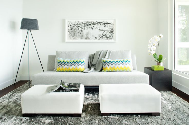 9. Use multifunctional furniture. In a small living room, each piece of furniture should earn its keep. Think of using ottomans that work as a coffee table or extra seating, nesting side tables that can be moved around as needed or versatile little stools that can be seats or tables.