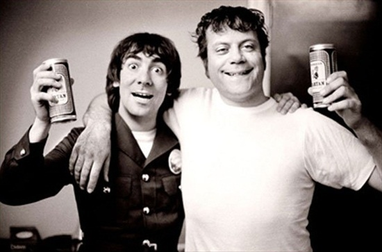 """Two hard living, hard drinking Englishmen, Rock Drummer Keith Moon and Actor Oliver Reed.   Meeting at the filming of """"Tommy"""", they became fast friends and drinking buddies until Moon's untimely death in 1978."""