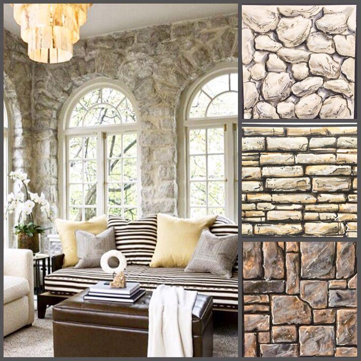 Interior sketching stone texture
