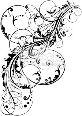 Swirl floral element Royalty Free Stock Vector Art Illustration