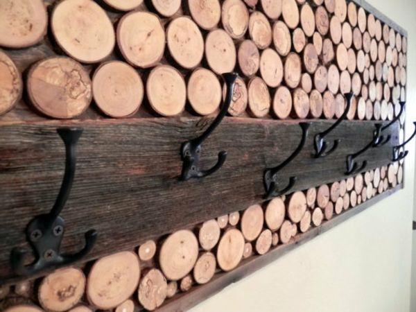DIY Deko Ideen kleider aufhänger brennholz