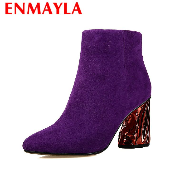Find More Women's Boots Information about ENMAYLA Fashion Boots Cow Split Pointed Toe Black Purple Shoes Woman Zip Ankle Boots for Women Winter Flock Warm Boots Shoes,High Quality boots python,China boots navy Suppliers, Cheap boots for women leather from Chengdu Ying Meier Shoes CO., LIMITED on Aliexpress.com