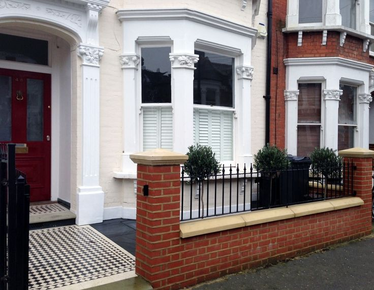 18 best images about red brick victorian on pinterest for Brick garden wall designs homes