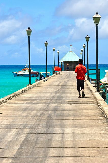 Pier at the seaside fishing town Oistins on the south coast of #Barbados