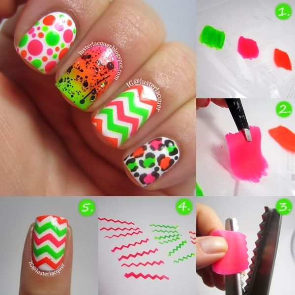 Luster Lacquer: How to: DIY chevron nail decals! Genius!