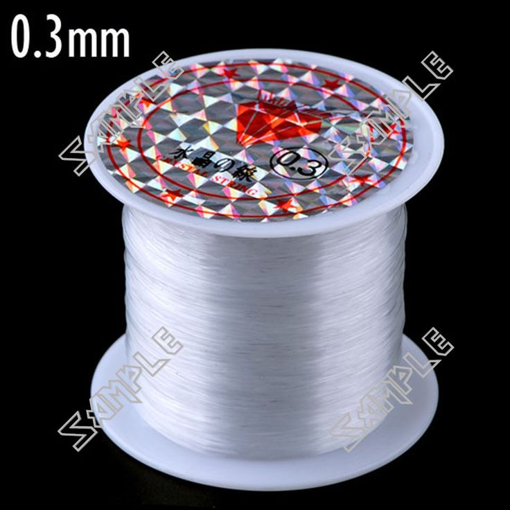 Low Price Bracelets: 0.3mm Diameter Strong Crystal Cord String for Bead Necklace Bracelet Making with Spool