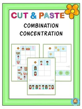 Children have to concentrate to find the combined images and paste them into their correct spot. Great for practicing visual discrimination and combining skills. All 22 worksheets come in color and in black/white.