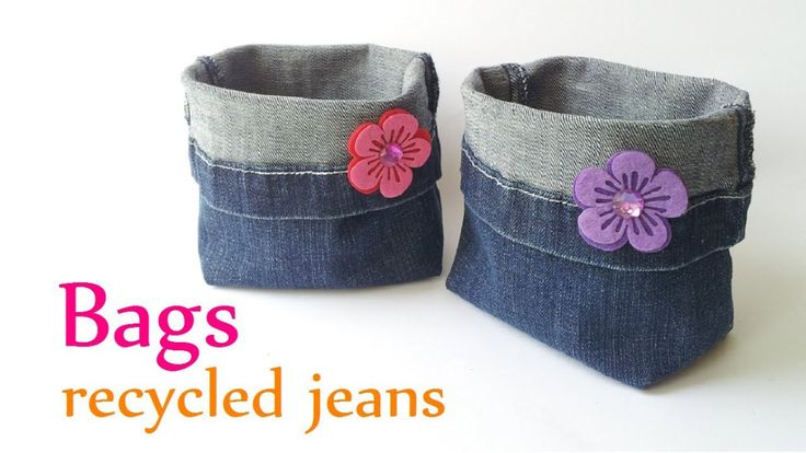 Don't throw away your old jeans, reuse the denim to create these sturdy storage buckets for your home, car, or your sewing studio! Watch this free sewing tutorial from Innova Crafts to see ho…