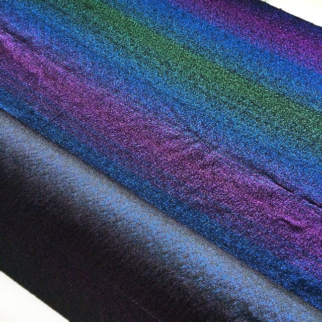 Multicolour viscose fabric with Lurex detail