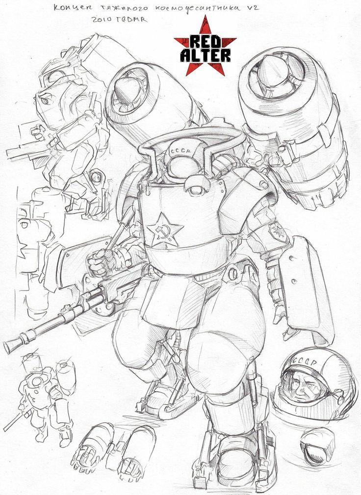 Character Design History : Heavy soviet marine v by tugodoomer viantart on