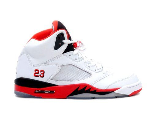 Youth (BOYS) Nike Air Jordan 5 Retro (GS) Basketball Shoes White/