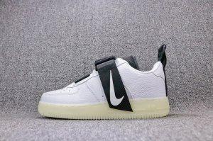 Nike Air Force 1 Utility QS AF1 White balck AV6247 100 Mens